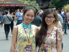 Sally Guo and Susanna Niu at Jurassic Park, Universal Studios Hollywood