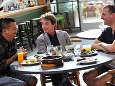 Roy Choi, Martin Short and Phil Rosenthal at Commissary