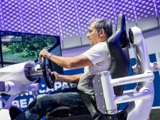 Ford driving simulator at the 2017 LA Auto Show