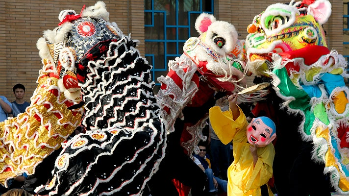 Dragons at Golden Dragon Parade in Chinatown