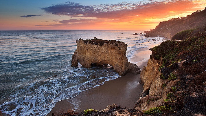 El Matador State Beach at sunset