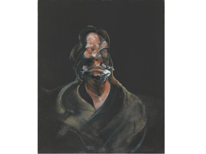 """Portrait of Isabel Rawsthorne,"" 1966, by Francis Bacon at the Getty Center"