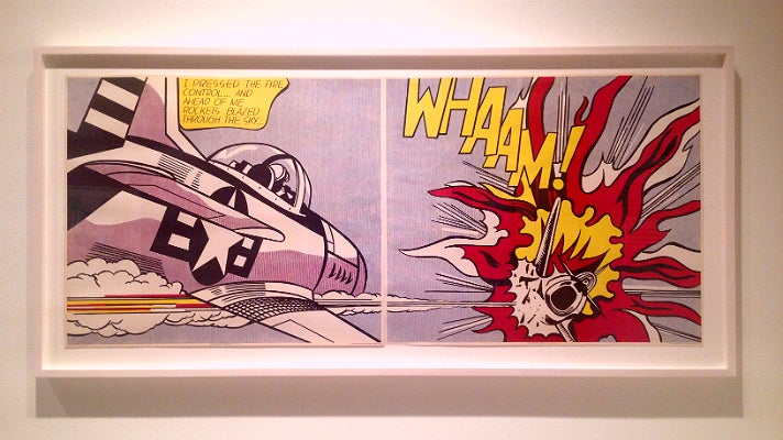 "Roy Lichtenstein, ""Whaam!"" (1963) at Skirball Cultural Center"