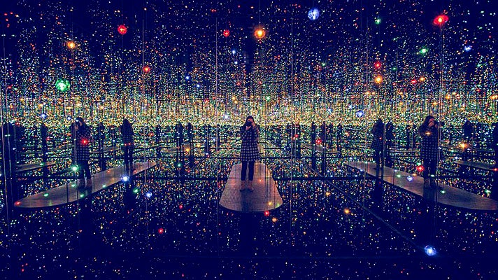 """Infinity Mirrored Room – The Souls of Millions of Light Years Away"" by Yayoi Kusama"