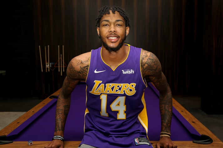 Lakers small forward Brandon Ingram in the Nike Statement jersey