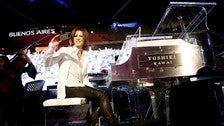 Yoshiki on stage at the GRAMMY Museum
