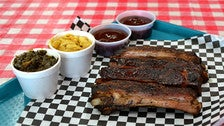 Pork ribs at Robert Earl's BBQ