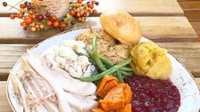Thanksgiving Dinner plate at Playa Provisions
