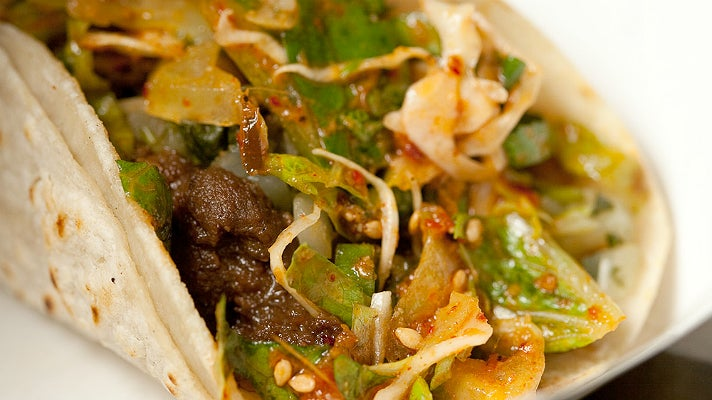 Short rib taco at Kogi BBQ