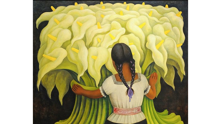 """""""The Flower Vendor (Girl with Lilies)"""" at the Norton Simon Museum"""