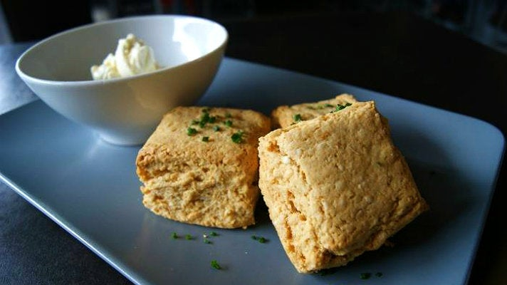 Spicy coconut and red curry biscuits at The Tripel