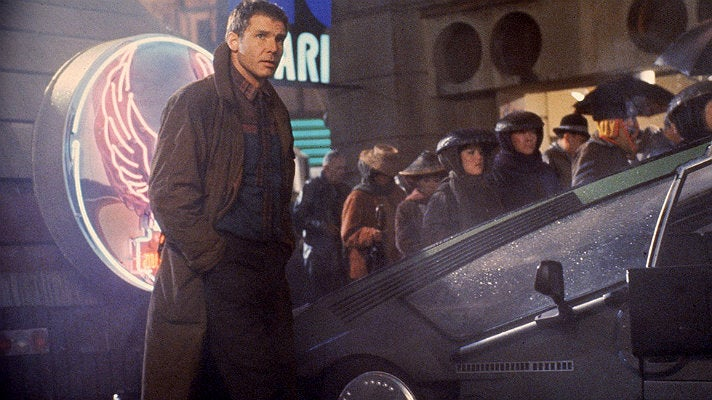 "Harrison Ford as Rick Deckard in ""Blade Runner"" (1982)"