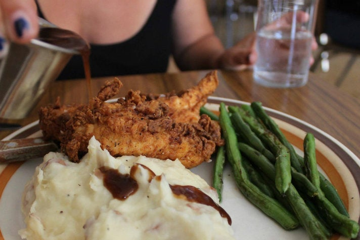Fried chicken at 101 Coffee Shop