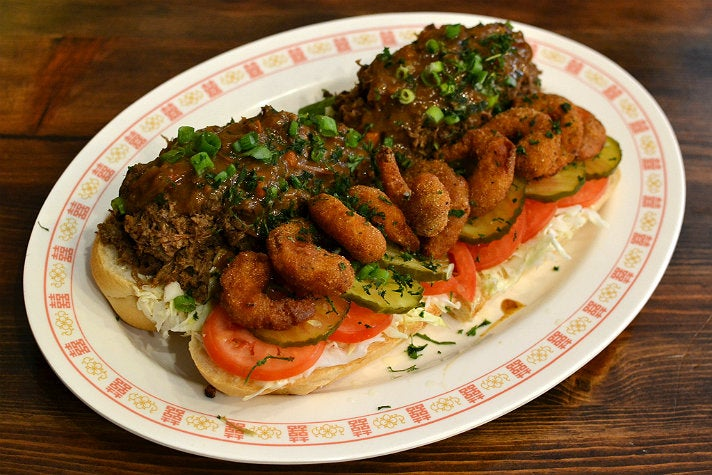 Surf & Turf Po'boy at The Little Jewel of New Orleans
