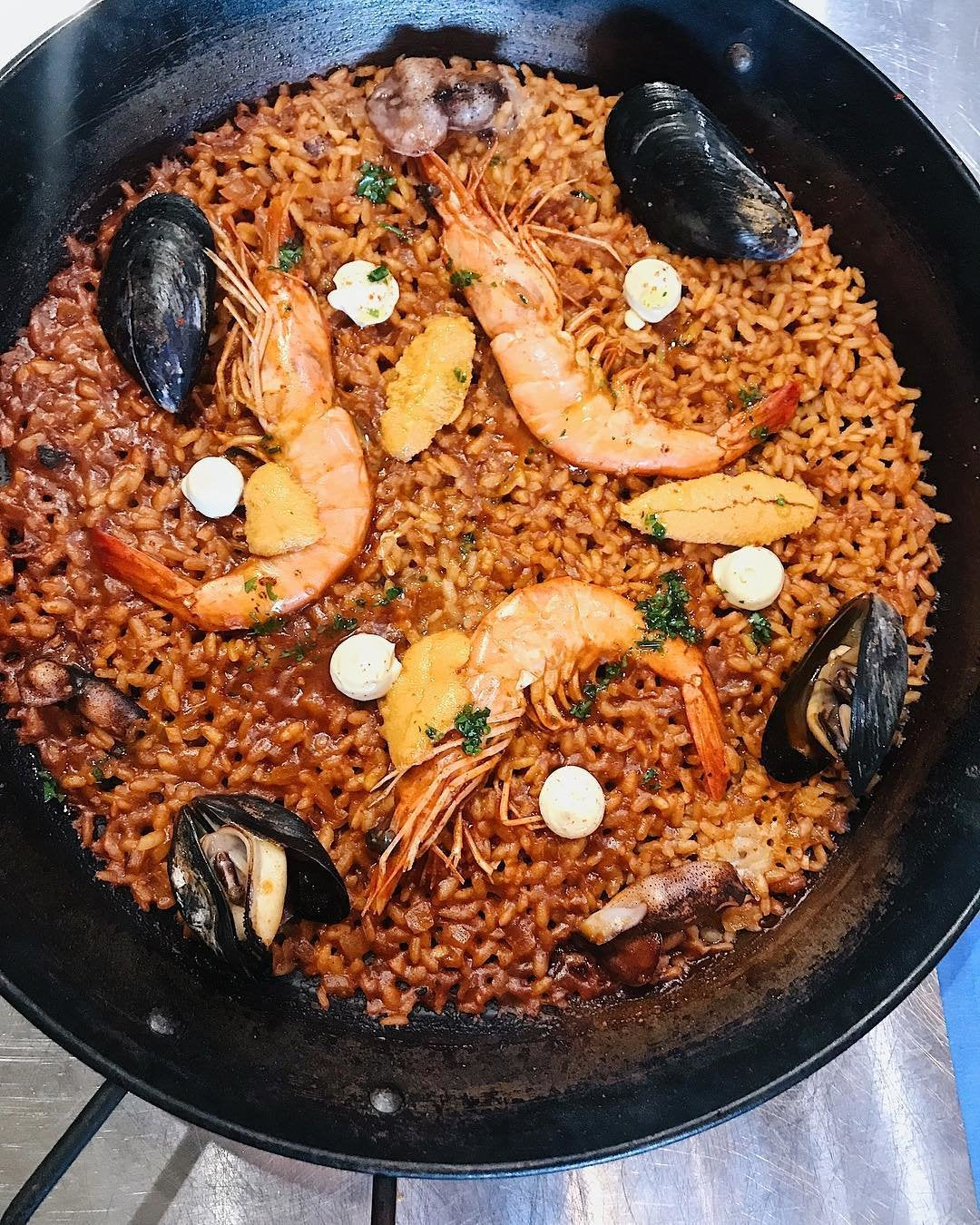 Seafood Paella at Otoño in Highland Park
